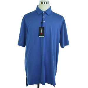 NEW RLX Golf Ralph Lauren Mens Polo Shirt XL Blue